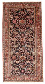 Nanadj Rug 160X322 Authentic Oriental Handknotted Hallway Runner Dark Brown/Rust Red (Wool, Persia/Iran)