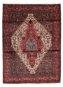 Senneh Dywan 118X161 Orientalny Tkany Ręcznie Ciemnoczerwony/Czarny (Wełna, Persja/Iran)