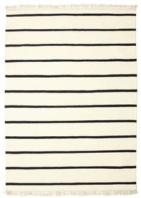 Dhurrie Stripe - White / Black carpet CVD1657