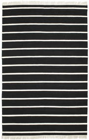 Dhurrie Stripe - Black/White Rug 190X290 Authentic  Modern Handwoven Black/Beige (Wool, India)