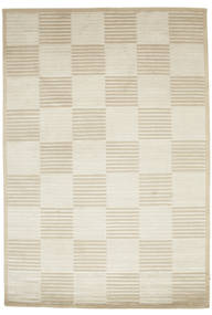 Pacific Line Square - White/Beige Rug 170X240 Authentic  Modern Handknotted Dark Beige/Light Brown ( India)