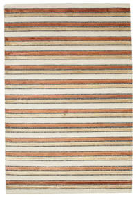 Pacific Line - Beige Rug 140X200 Authentic  Modern Handknotted Dark Beige/Beige ( India)