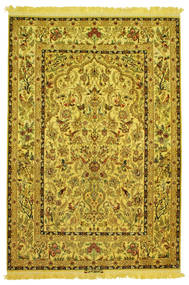 Isfahan silk warp pictorial signed: Nasr carpet HX177