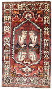 Qashqai Pictorial Rug 168X292 Authentic  Oriental Handknotted Dark Blue/Rust Red (Wool, Persia/Iran)