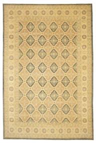 Ziegler Matto 359X539 Itämainen Käsinsolmittu Tummanbeige/Keltainen Isot (Villa, Pakistan)