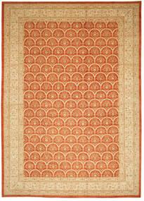 Ziegler Matto 426X603 Itämainen Käsinsolmittu Tummanbeige/Oranssi Isot (Villa, Pakistan)