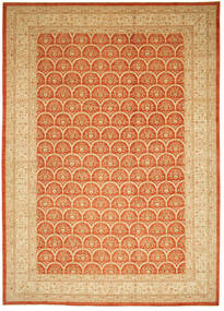 Ziegler Teppe 426X603 Ekte Orientalsk Håndknyttet Lysbrun/Orange Stort (Ull, Pakistan)