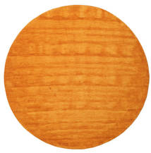 Handloom - Orange Rug Ø 250 Modern Round Orange Large (Wool, India)