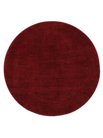 Handloom - Dark Red Covor Ø 200 Modern Rotund Roşu (Lână, India