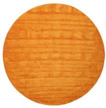 Handloom - Oransje Teppe Ø 300 Moderne Rundt Orange/Lysbrun Stort (Ull, India)