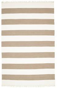 Cotton Stripe - Bruin Tapijt 200X300 Echt Modern Handgeweven Beige/Lichtbruin (Katoen, India)