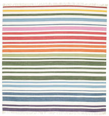 Rainbow Stripe - White tæppe CVD1764