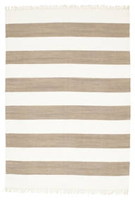 Cotton Stripe - Brown Rug 160X230 Authentic  Modern Handwoven Beige/Light Brown (Cotton, India)