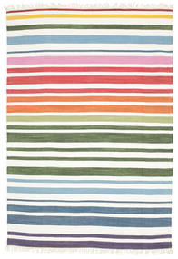 Rainbow Stripe - White Rug 160X230 Authentic  Modern Handwoven White/Creme (Cotton, India)