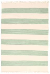 Cotton Stripe - Mint Matto 160X230 Moderni Käsinkudottu Beige/Pastellinvihreä (Puuvilla, Intia)