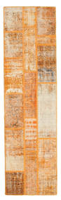 Patchwork Rug 82X298 Authentic  Modern Handknotted Hallway Runner  Light Brown/Orange (Wool, Turkey)