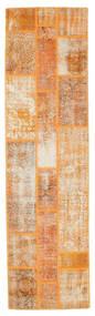 Patchwork Rug 81X300 Authentic  Modern Handknotted Hallway Runner  Light Brown/White/Creme (Wool, Turkey)