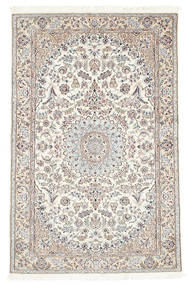 Nain 6La Matto 113X177 Itämainen Käsinsolmittu Beige/Vaaleanharmaa (Villa/Silkki, Persia/Iran)