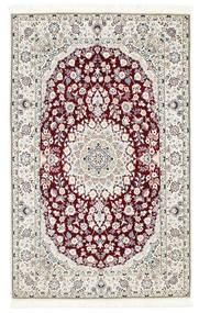 Nain 6La Rug 108X175 Authentic  Oriental Handknotted Beige/White/Creme (Wool/Silk, Persia/Iran)