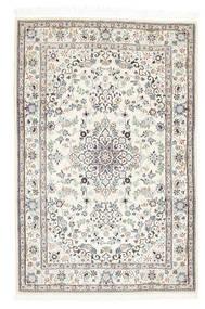 Nain 6La Matto 89X137 Itämainen Käsinsolmittu Beige/Vaaleanharmaa (Villa/Silkki, Persia/Iran)