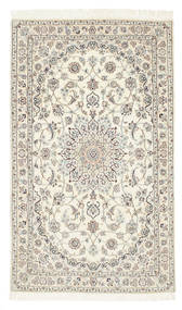 Nain 6La Rug 98X165 Authentic  Oriental Handknotted Beige/Light Brown (Wool/Silk, Persia/Iran)