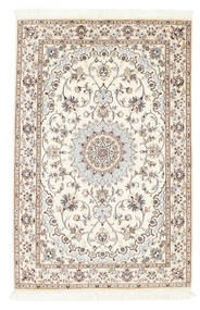 Nain 6La Rug 100X152 Authentic  Oriental Handknotted Beige/Light Grey (Wool/Silk, Persia/Iran)