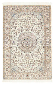 Nain 6La Vloerkleed 100X156 Echt Oosters Handgeknoopt Beige/Lichtgrijs (Wol/Zijde, Perzië/Iran)