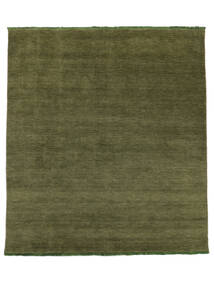 Handloom Fringes - Green Rug 250X300 Modern Olive Green Large (Wool, India)