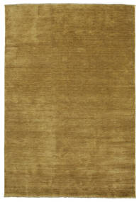 Handloom Fringes - Olive Green Rug 220X320 Modern Olive Green/Brown (Wool, India)