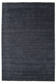 Handloom Fringes - Mörkblå Matta 220X320 Modern Mörkblå (Ull, Indien)