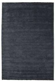 Handloom Fringes - Dark Blue Rug 220X320 Modern Black/Dark Grey (Wool, India)