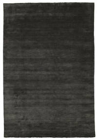 Handloom Fringes - Black/Grey Rug 220X320 Modern Dark Grey (Wool, India)