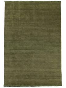Tapis Handloom fringes - Vert foncé CVD5274