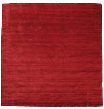 Handloom Fringes - Dark Red Rug 250X250 Modern Square Crimson Red Large (Wool, India)