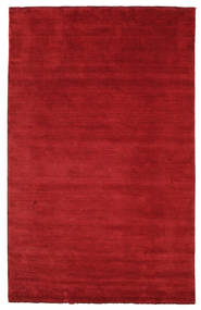 Handloom Fringes - Rosso Scuro Tappeto 180X275 Moderno Rosso (Lana, India)