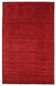 Handloom Fringes - Tummanpunainen Matto 180X275 Moderni Punainen (Villa, Intia)