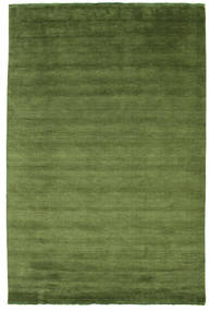 Handloom Fringes - Green Rug 200X300 Modern Olive Green/Dark Green (Wool, India)