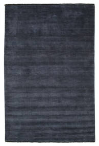 Handloom fringes - Dark Blue rug CVD5449