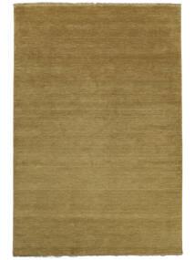 Handloom Fringes - Olive Green Rug 200X300 Modern Brown/Olive Green (Wool, India)