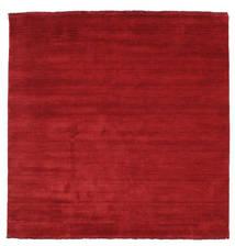 Handloom Fringes - Ciemnoczerwony Dywan 200X200 Nowoczesny Kwadratowy Czerwony (Wełna, Indie)