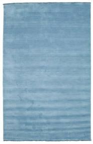 Handloom fringes - Light Blue carpet CVD5424