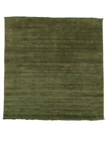 ハンドルーム Fringes - グリーン 絨毯 200X250 モダン オリーブ色/深緑色の (ウール, インド)