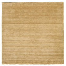 Handloom Fringes - Beige Rug 200X200 Modern Square Light Brown (Wool, India)
