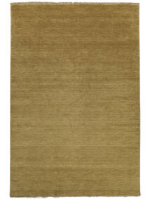 Handloom Fringes - Olive Green Rug 140X200 Modern Olive Green/Brown (Wool, India)