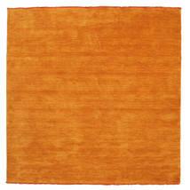 Handloom Fringes - Orange Matta 200X200 Modern Kvadratisk Orange (Ull, Indien)