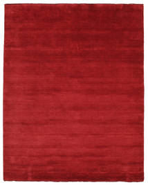 Handloom Fringes - Donkerrood Vloerkleed 200X250 Modern Rood (Wol, India)