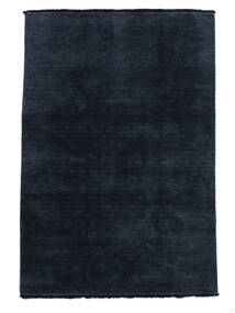 Handloom Fringes - Blu Scuro Tappeto 160X230 Moderno Blu Scuro (Lana, India)