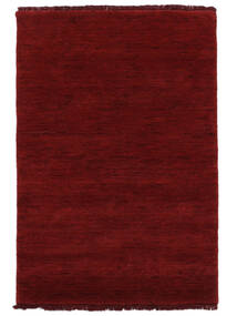 Handloom Fringes - Dark Red Rug 160X230 Modern Crimson Red (Wool, India)