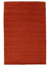 Handloom Fringes - Rust/Red Rug 160X230 Modern Rust Red/Orange (Wool, India)