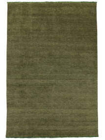 Handloom fringes - Dark Green carpet CVD5284